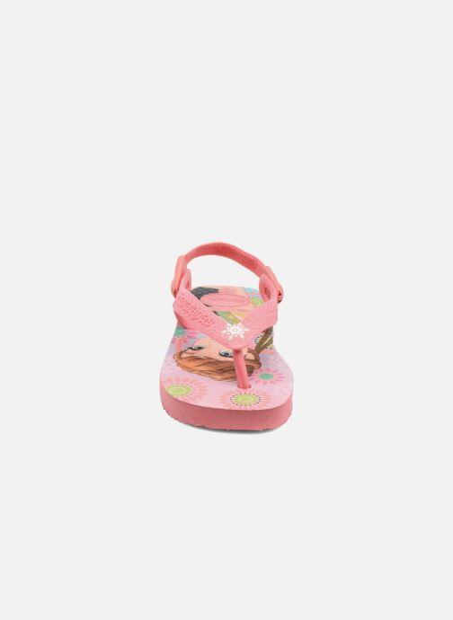 Sandales et nu-pieds Havaianas Baby Frozen Rose vue portées chaussures