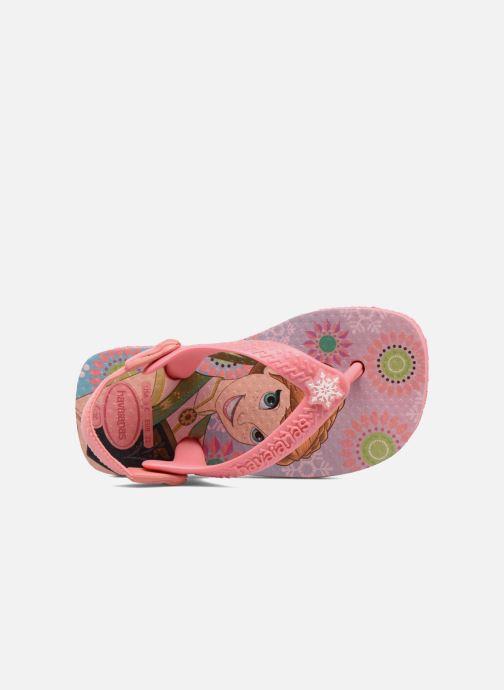 Sandales et nu-pieds Havaianas Baby Frozen Rose vue gauche