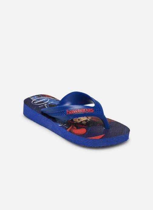 Tongs Havaianas Kids Max Herois Bleu vue portées chaussures