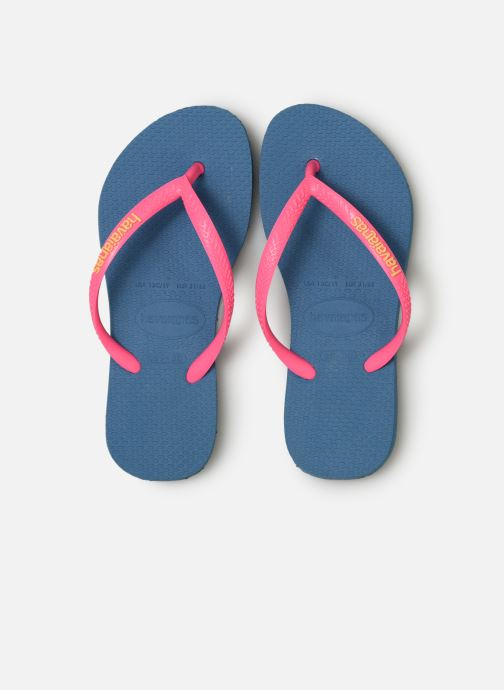 Slippers Havaianas Kids Slim Logo Blauw model
