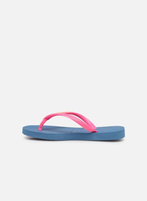 Slippers Havaianas Kids Slim Logo Blauw voorkant