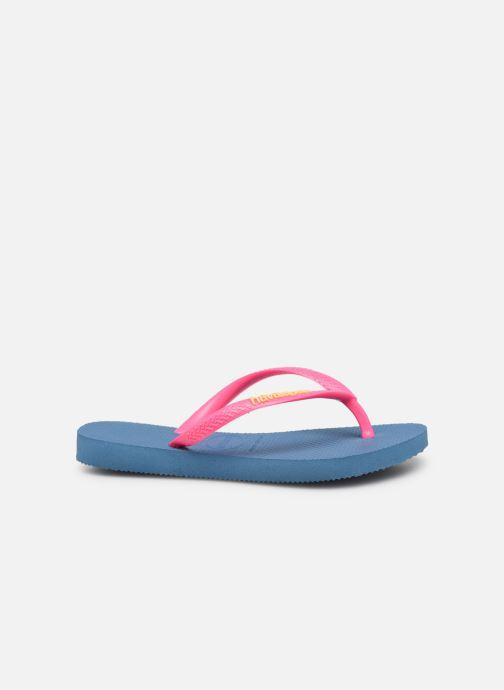 Slippers Havaianas Kids Slim Logo Blauw achterkant