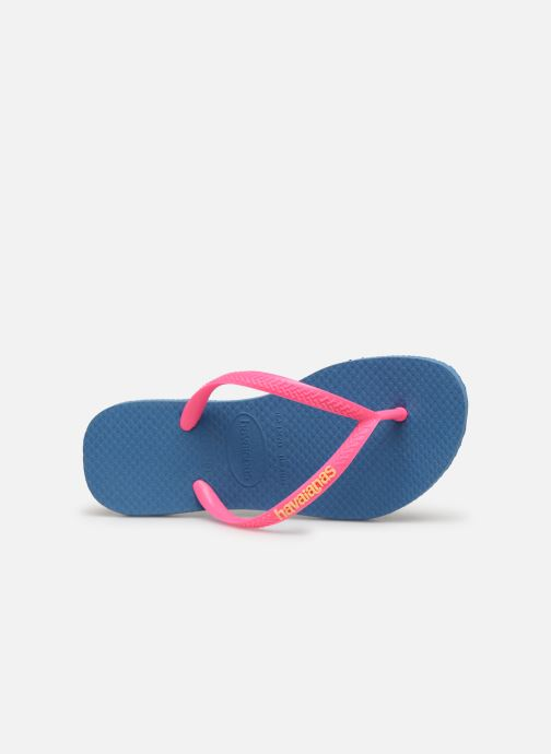 Slippers Havaianas Kids Slim Logo Blauw links
