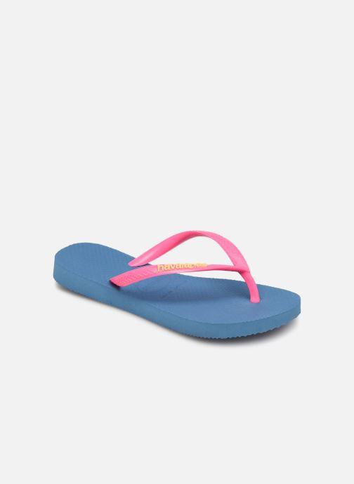 Slippers Havaianas Kids Slim Logo Blauw detail