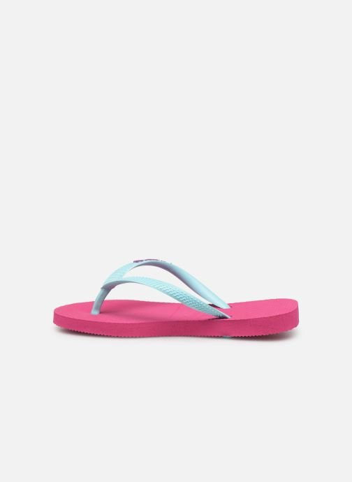 Tongs Havaianas Kids Slim Logo Rose vue face