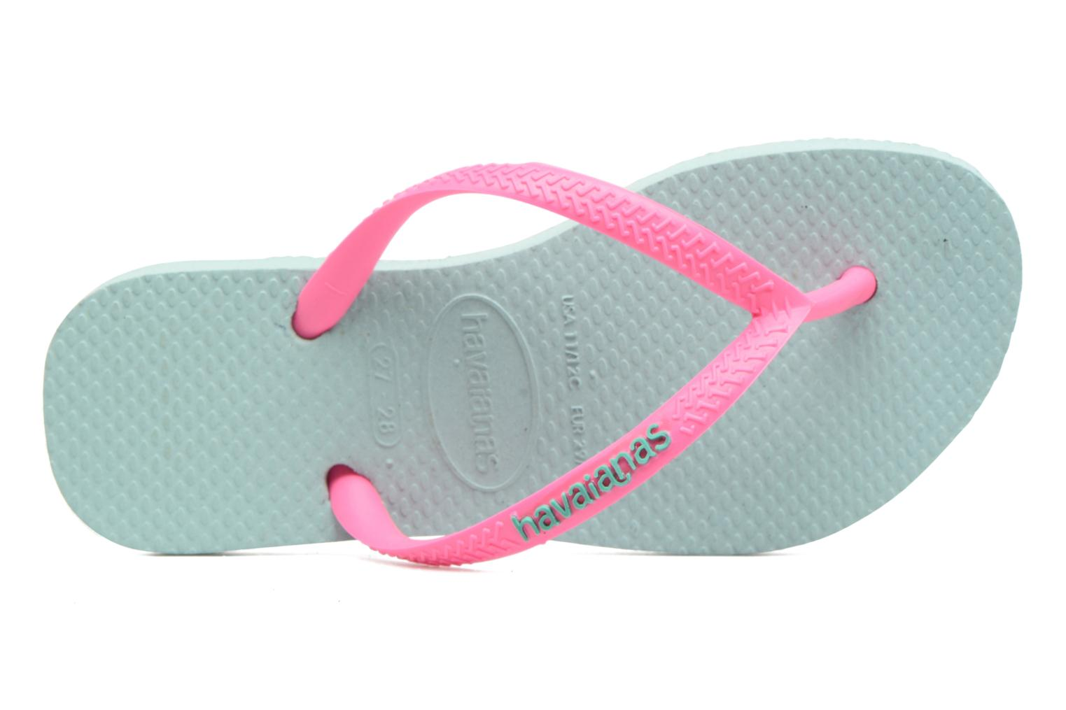 Slippers Havaianas Kids Slim Logo Groen links