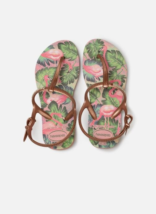 Tongs Havaianas Kids Freedom Print Rose vue portées chaussures