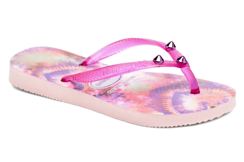 Flip flops & klipklapper Havaianas Kids Slim Style Pink detaljeret billede af skoene
