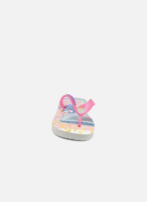 Tongs Havaianas Kids Nemo E Dory Blanc vue portées chaussures