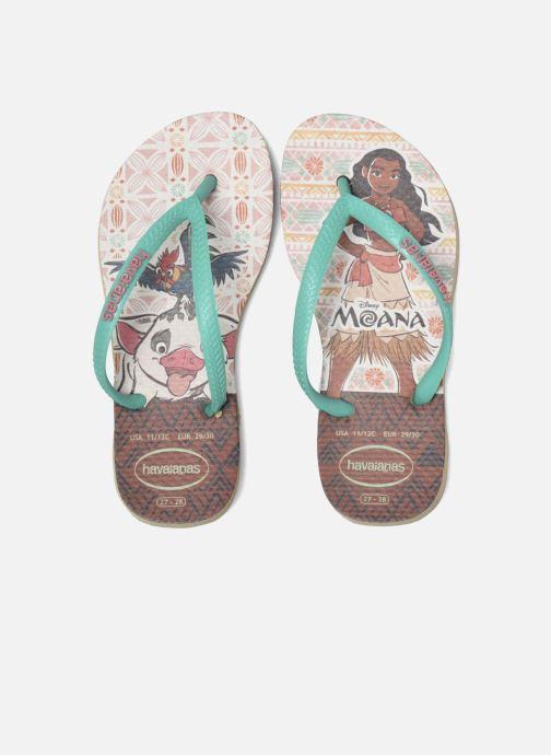 Flip flops Havaianas Kids Slim Moana Beige 3/4 view
