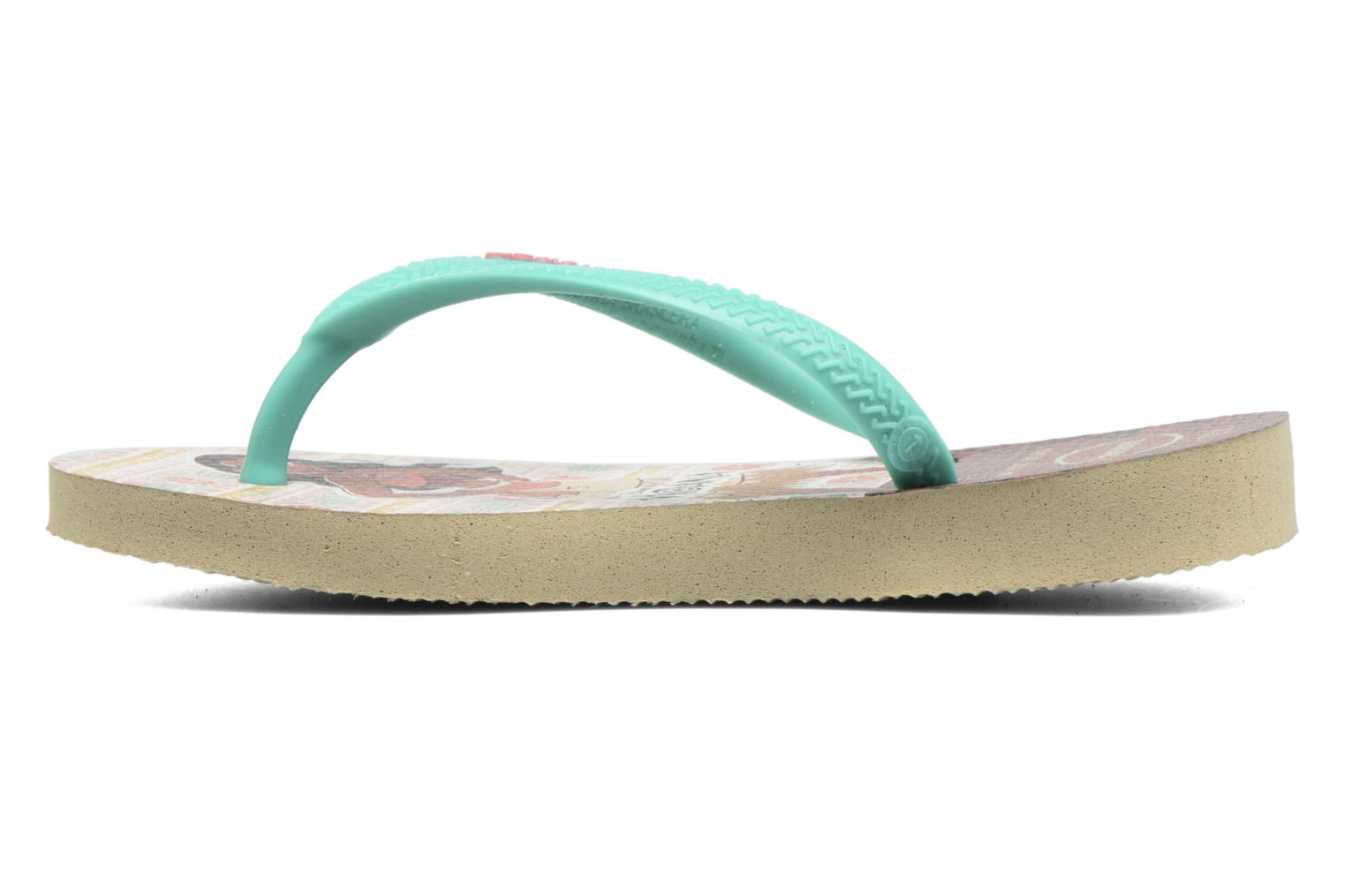 Tongs Havaianas Kids Slim Moana Beige vue face