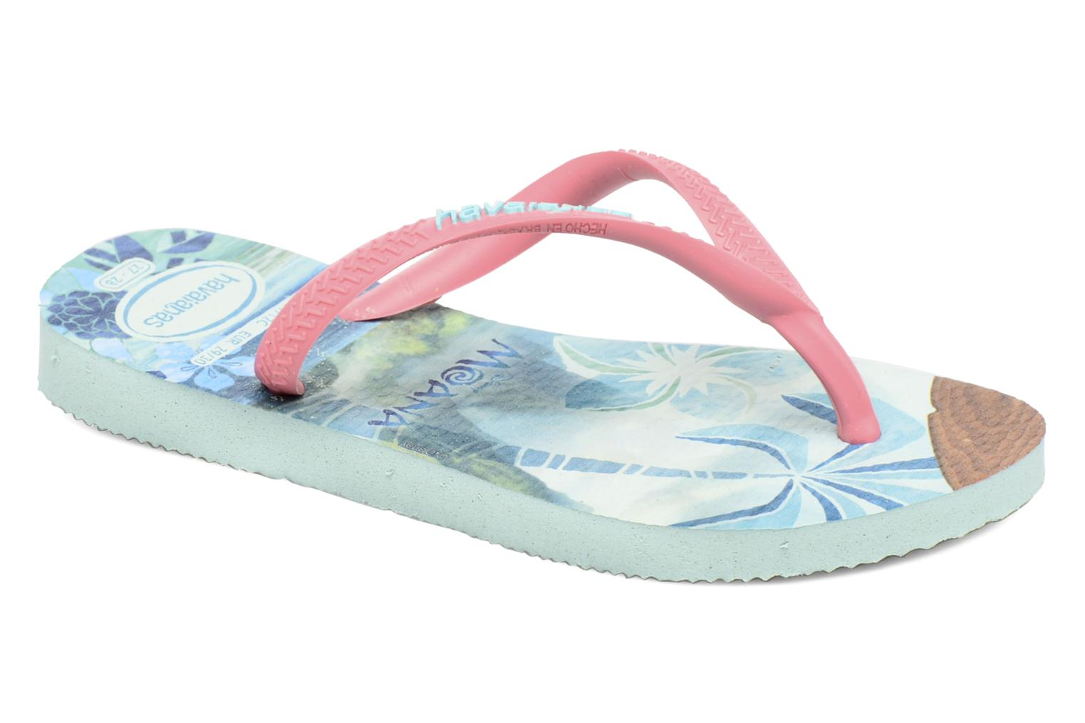 Slippers Havaianas Kids Slim Moana Groen detail
