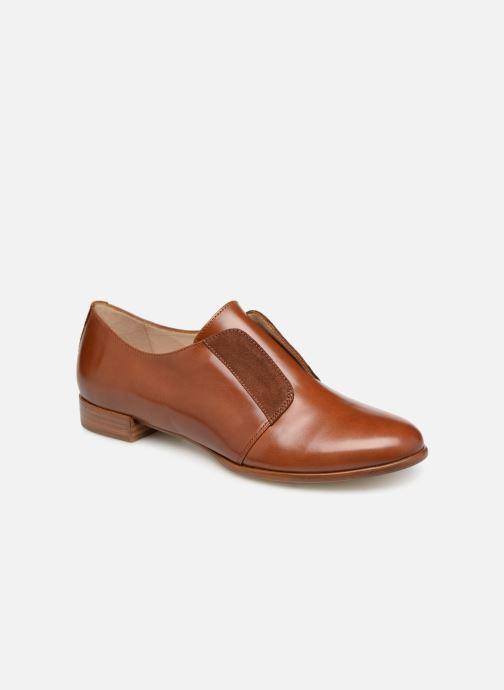 Snøresko Georgia Rose Tadaa Brun detaljeret billede af skoene