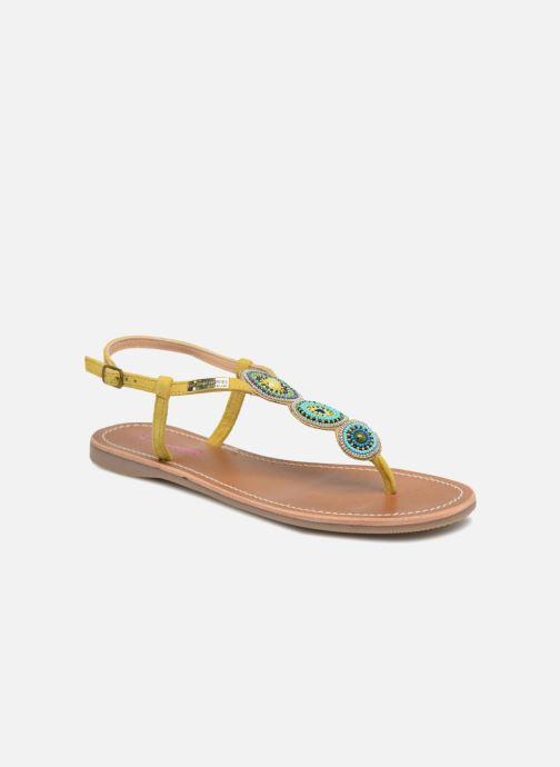a106e073e3784 Sandales et nu-pieds Les Tropéziennes par M Belarbi Orion Jaune vue  détail paire