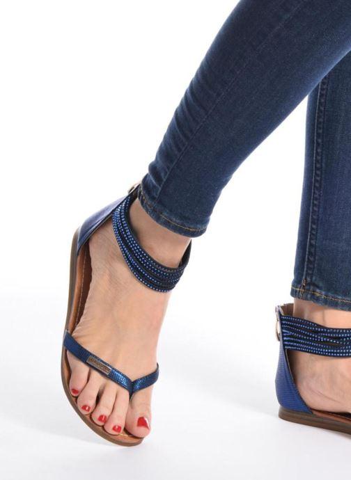 Sandales et nu-pieds Les Tropéziennes par M Belarbi Ginkgo Noir vue bas / vue portée sac