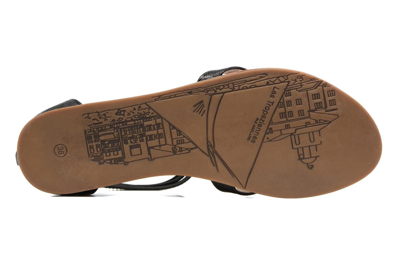 Sandales et nu-pieds Les Tropéziennes par M Belarbi Ginkgo Noir vue haut
