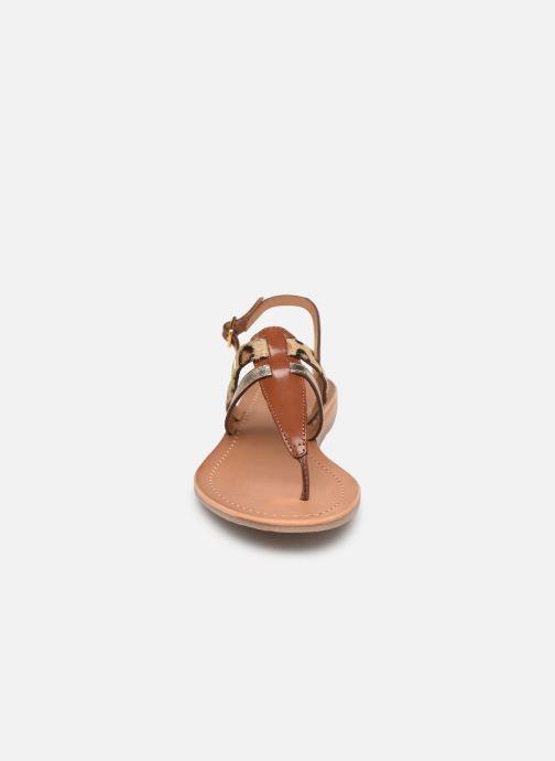 Sandales et nu-pieds Les Tropéziennes par M Belarbi Baraka Marron vue portées chaussures
