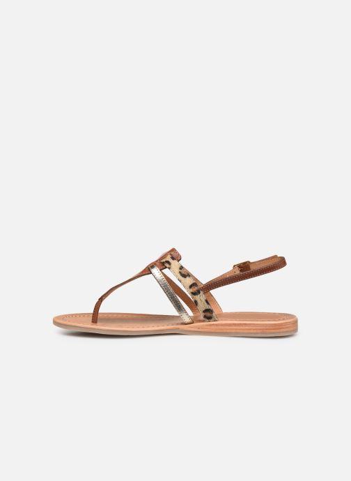 Sandales et nu-pieds Les Tropéziennes par M Belarbi Baraka Marron vue face