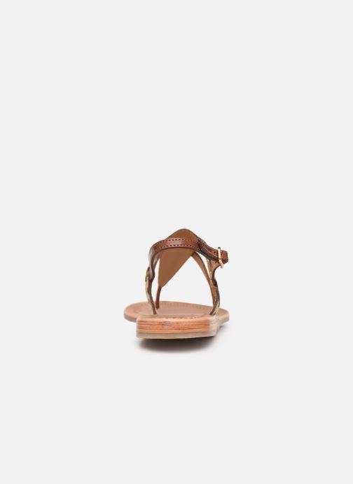 Sandales et nu-pieds Les Tropéziennes par M Belarbi Baraka Marron vue droite