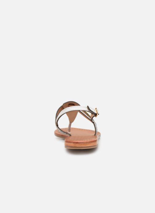 Sandalias Les Tropéziennes par M Belarbi Baraka Plateado vista lateral derecha