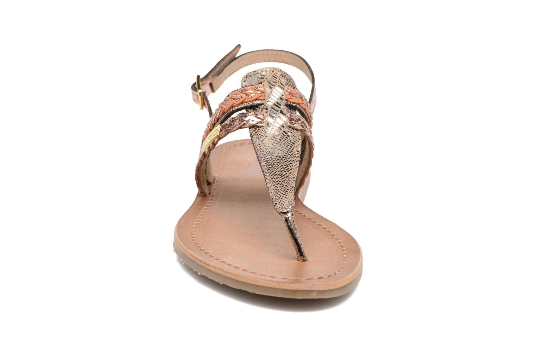 Sandales et nu-pieds Les Tropéziennes par M Belarbi Baraka Or et bronze vue portées chaussures