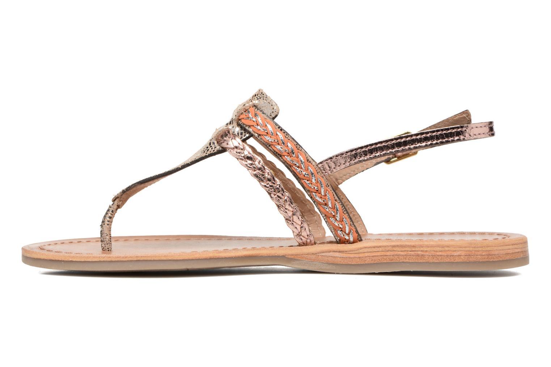 Sandales et nu-pieds Les Tropéziennes par M Belarbi Baraka Or et bronze vue face