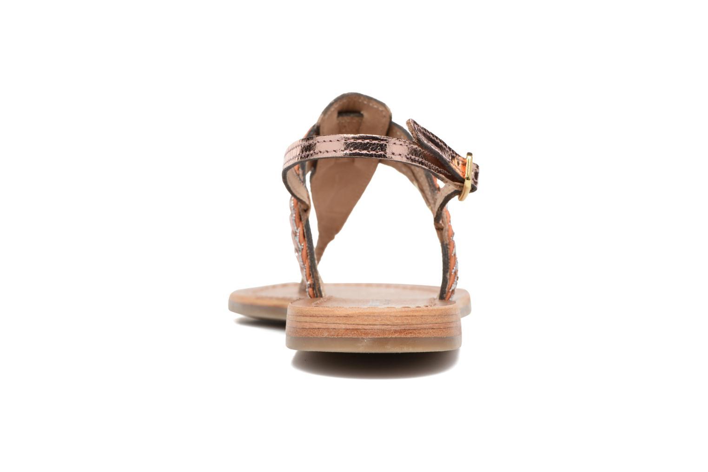Sandales et nu-pieds Les Tropéziennes par M Belarbi Baraka Or et bronze vue droite