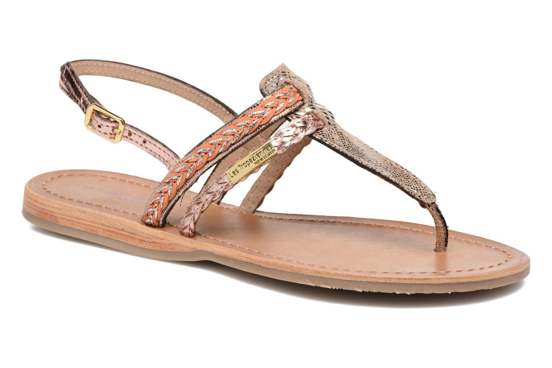 Sandales et nu-pieds Les Tropéziennes par M Belarbi Baraka Or et bronze vue détail/paire