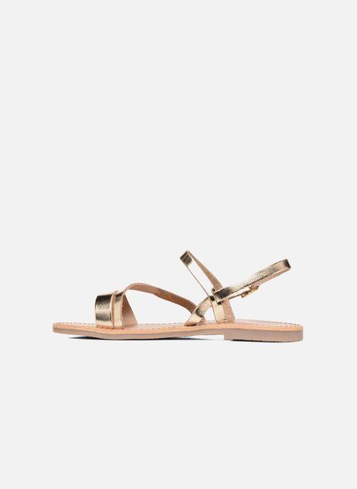 Sandals Les Tropéziennes par M Belarbi Baden Bronze and Gold front view