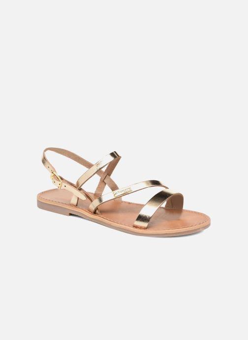 Sandals Les Tropéziennes par M Belarbi Baden Bronze and Gold detailed view/ Pair view