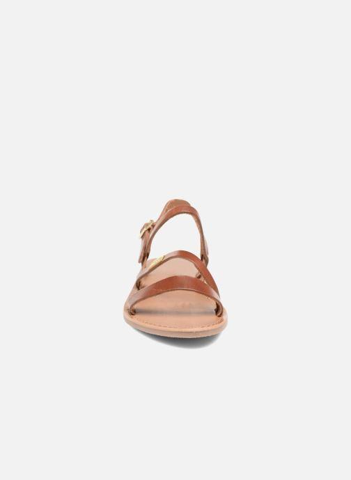 Sandales et nu-pieds Les Tropéziennes par M Belarbi Baden Marron vue portées chaussures