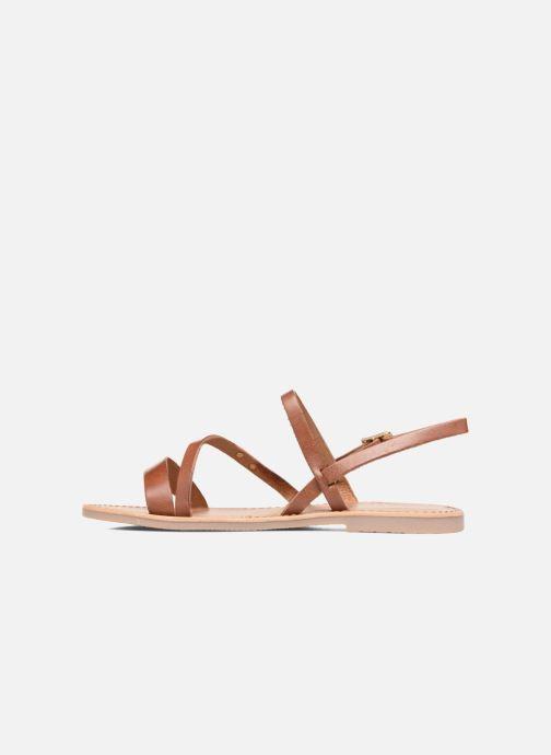 Sandales et nu-pieds Les Tropéziennes par M Belarbi Baden Marron vue face