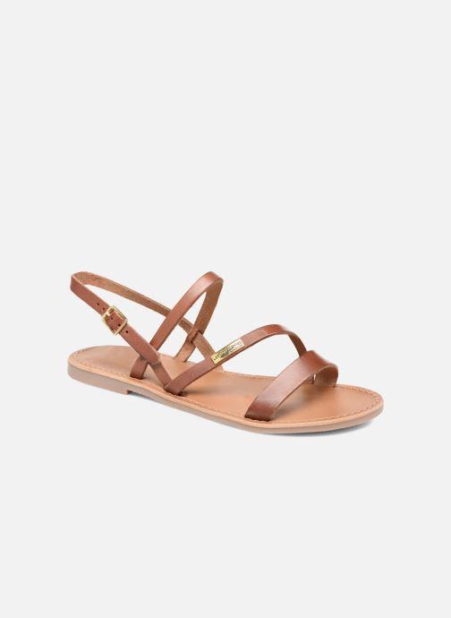 Sandales et nu-pieds Les Tropéziennes par M Belarbi Baden Marron vue détail/paire