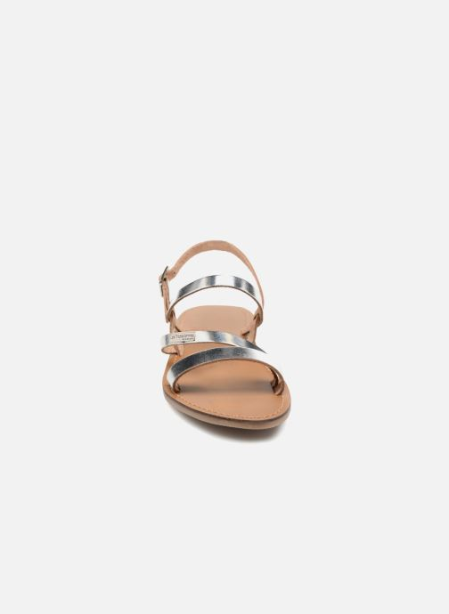 Sandales et nu-pieds Les Tropéziennes par M Belarbi Baden Argent vue portées chaussures