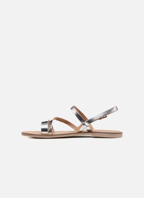 Sandales et nu-pieds Les Tropéziennes par M Belarbi Baden Argent vue face