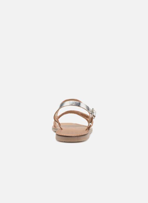 Sandales et nu-pieds Les Tropéziennes par M Belarbi Baden Argent vue droite