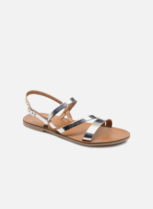 Sandales et nu-pieds Les Tropéziennes par M Belarbi Baden Argent vue détail/paire