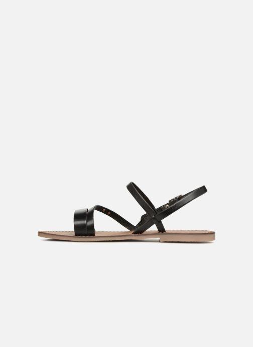 Sandalen Les Tropéziennes par M Belarbi Baden schwarz ansicht von vorne