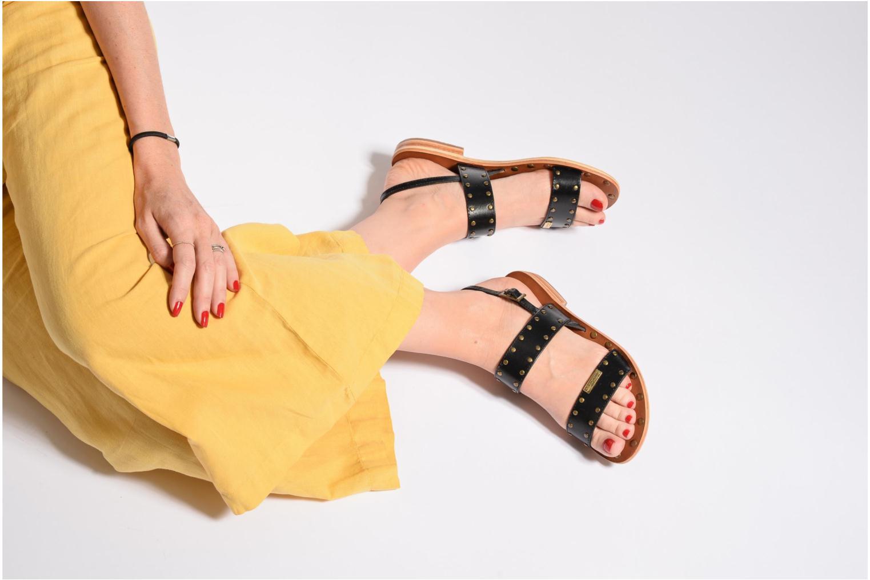 Sandals Les Tropéziennes par M Belarbi Haude Black view from underneath / model view