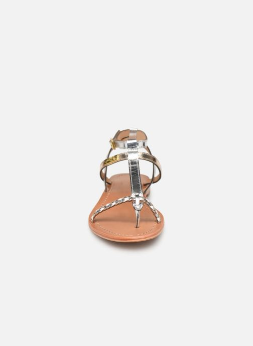 Sandales et nu-pieds Les Tropéziennes par M Belarbi Hilatres Argent vue portées chaussures
