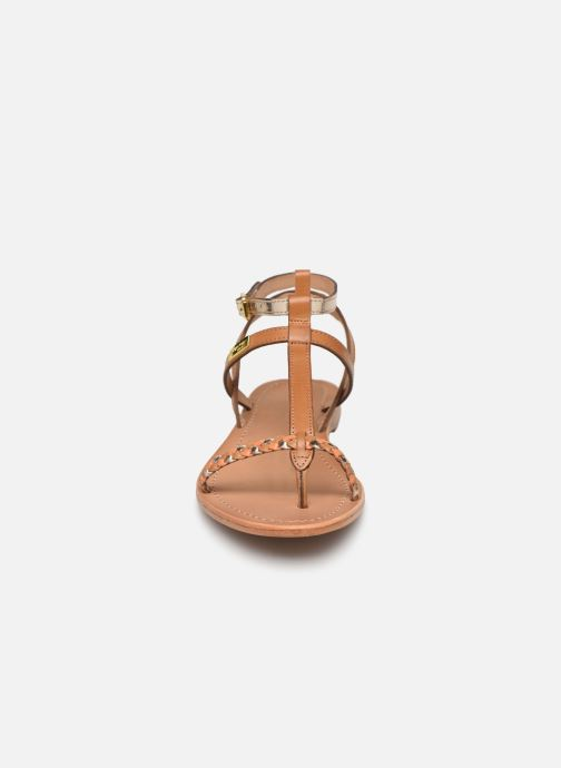 Sandales et nu-pieds Les Tropéziennes par M Belarbi Hilatres Marron vue portées chaussures
