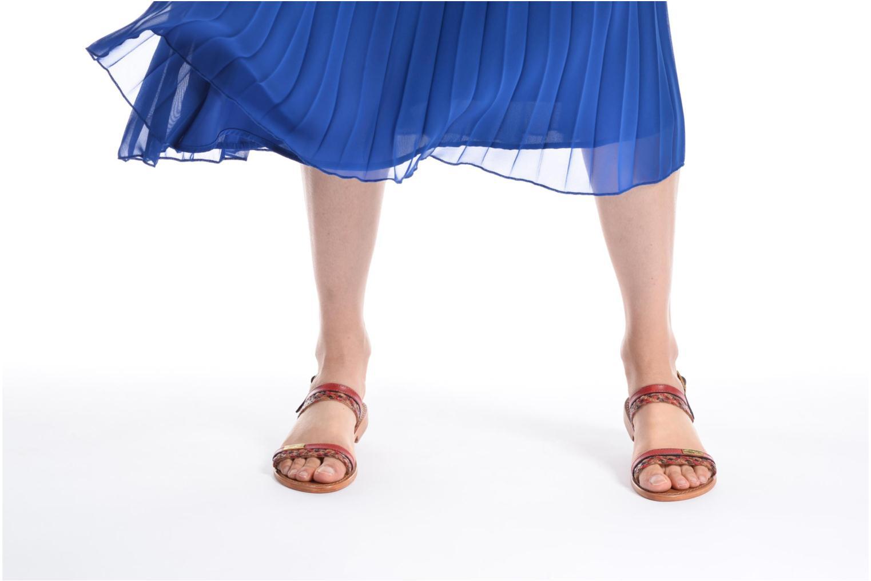Sandales et nu-pieds Les Tropéziennes par M Belarbi Beauty Rouge vue bas / vue portée sac
