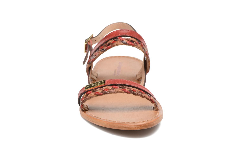 Sandales et nu-pieds Les Tropéziennes par M Belarbi Beauty Rouge vue portées chaussures