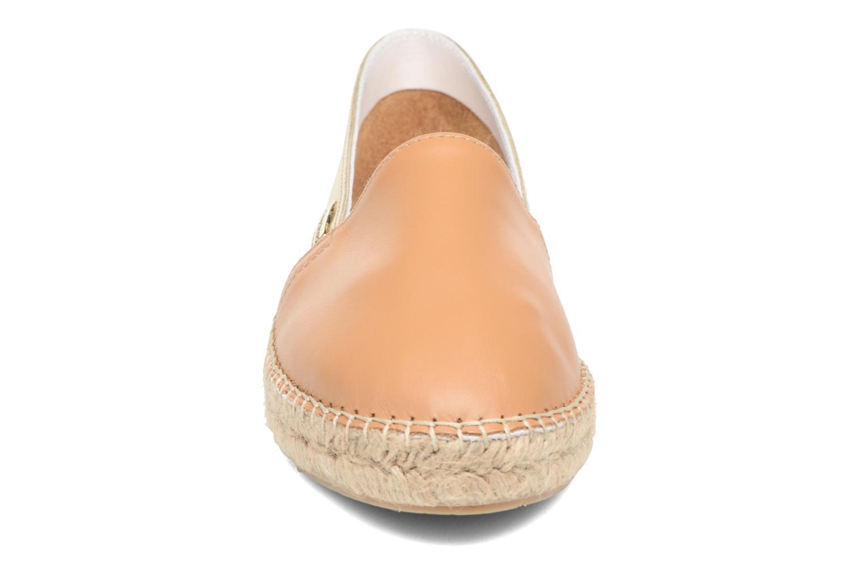 Espadrilles Les Tropéziennes par M Belarbi Dove Marron vue portées chaussures