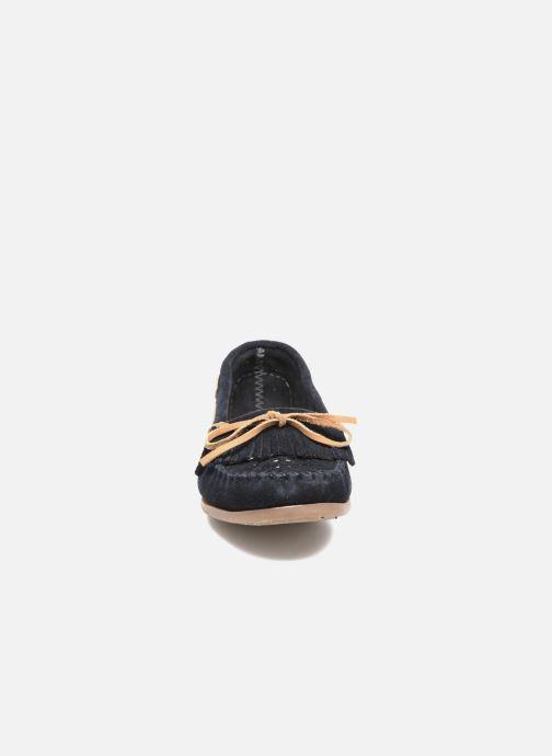 Mocassins Les Tropéziennes par M Belarbi Perou Bleu vue portées chaussures
