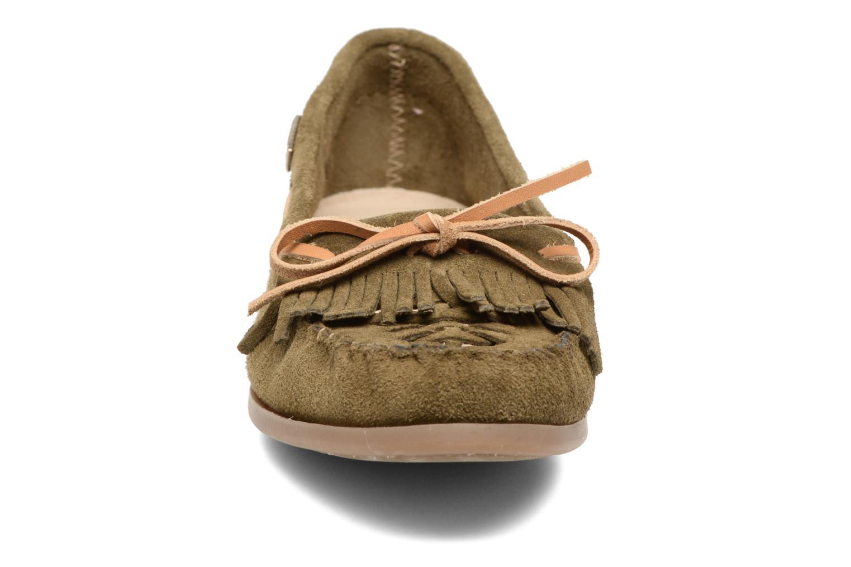 Mocassins Les Tropéziennes par M Belarbi Perou Vert vue portées chaussures