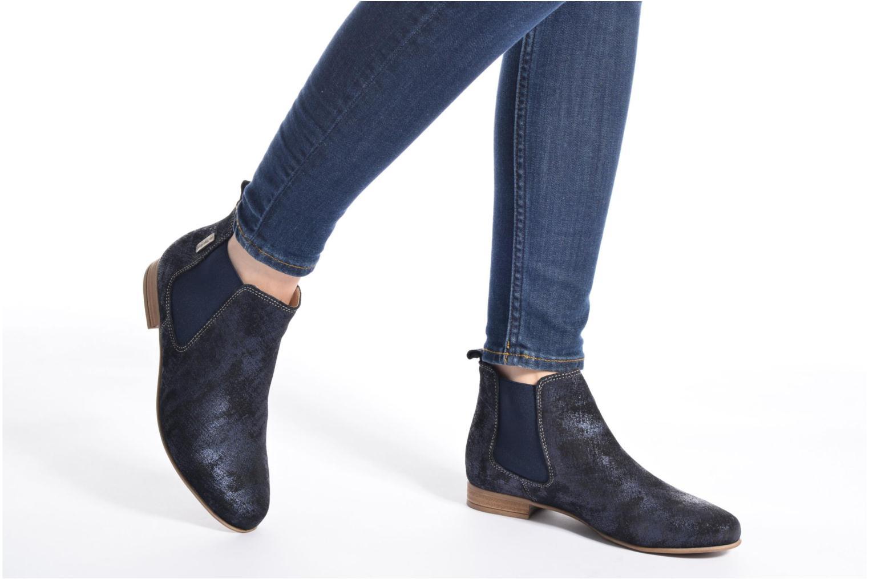 Bottines et boots Les Tropéziennes par M Belarbi Panama Bleu vue bas / vue portée sac