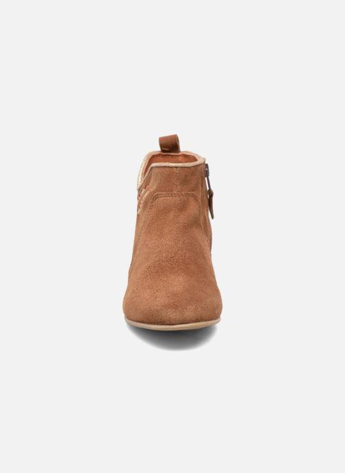 Bottines et boots Les Tropéziennes par M Belarbi Platine Marron vue portées chaussures