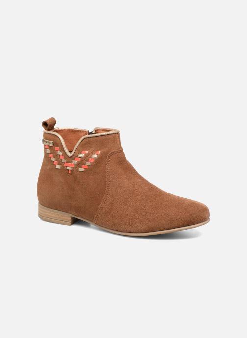 Bottines et boots Les Tropéziennes par M Belarbi Platine Marron vue détail/paire