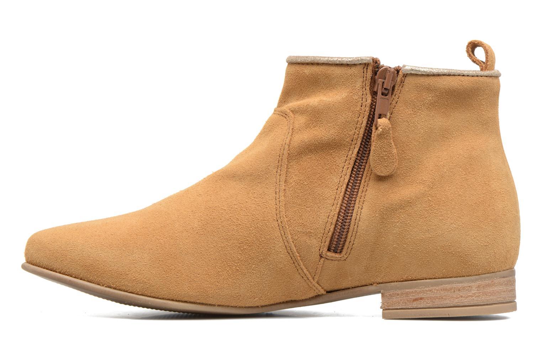 Bottines et boots Les Tropéziennes par M Belarbi Platine Marron vue face